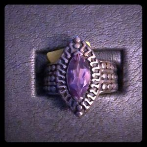 Vintage Sterling Silver and Amethyst Ring NWT